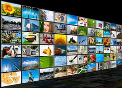 Stock Illustration of screens multimedia panel