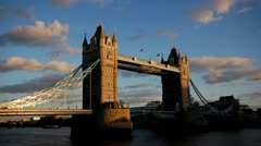 London Bridge at sunset dusk timelapse Stock Footage