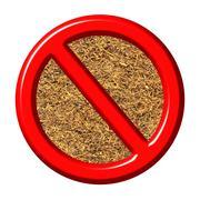 3d anti tobacco sign - stock illustration