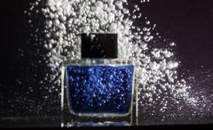 luxury blue container deodorant - stock photo