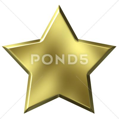 Stock Illustration of 3D Golden Star