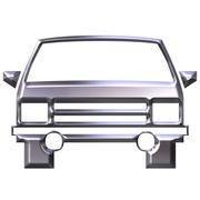 3D Silver Car Stock Illustration