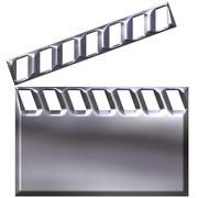 3D Silver Clap Board - stock illustration