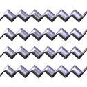 3d silver zig zag texture Stock Illustration