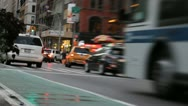 Stock Video Footage of Traffic in New York City