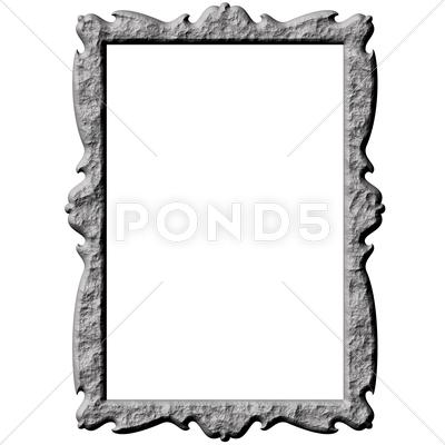 Stock Illustration of 3D Stone Frame