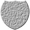 Stock Illustration of 3D Stone Shield