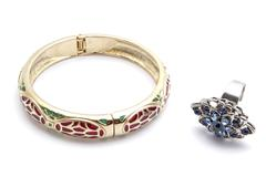 Beautiful bracelet and ring Stock Photos
