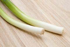 Fresh green onion Stock Photos