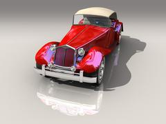 Red Old Car - Hot Rod Stock Illustration