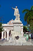 Statue jose marti (build 1906), cienfuegos, cuba Stock Photos