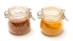 Multi-colored spices Stock Photos