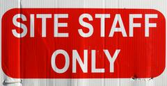 site staff only - stock photo