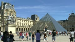 Musée du Louvre Stock Footage