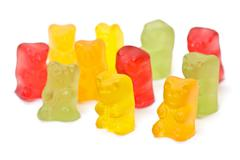 Gummy bear candy Stock Photos