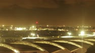 Stock Video Footage of Time Lapse of Mexico City International Airport runways with planes