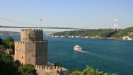 Stock Video Footage of Istanbul from the Rumeli Fortress