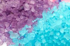 aromatic bath sea salt - stock photo