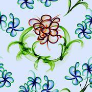 Floral stylish wallpaper, seamless pattern Stock Photos