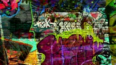 Graffiti Wall - stock footage