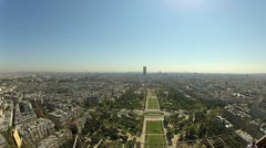 View from the Eiffel tower in Paris Stock Footage