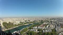 View from the Eiffel tower Stock Footage