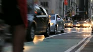 Stock Video Footage of Traffic and Biker in New York City