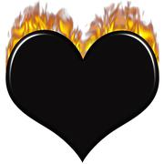Burnt Heart - stock illustration