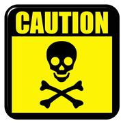 Caution Death Stock Illustration
