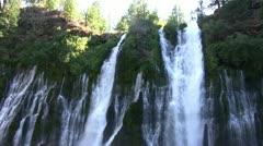 Burney Falls 19 Waterfalls Stock Footage