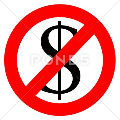 Stock Illustration of Free of charge anti dollar sign