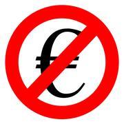 Maksuton anti euron merkki Piirros