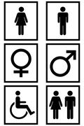 Gender Signs - stock illustration