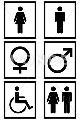 Stock Illustration of Gender Signs