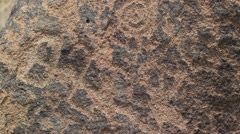 Sci-Fi - petroglyph rocks compositions to do with alien visitations - 2 Stock Footage
