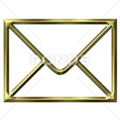 Stock Illustration of Golden Envelope