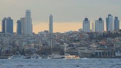 Istanbul city skyline Stock Footage