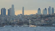 Stock Video Footage of Istanbul city skyline