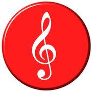 Music Button - stock illustration