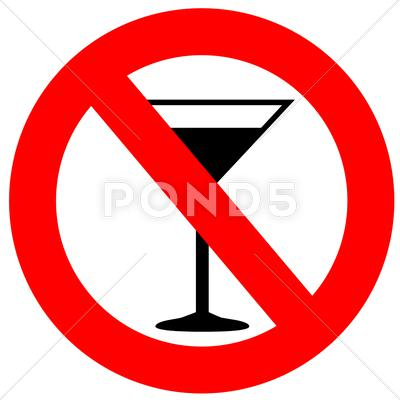 Stock Illustration of No Alcohol Sign