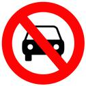 Stock Illustration of No Cars Allowed