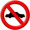 Stock Illustration of No cars allowed 3d sign