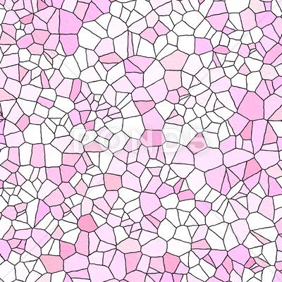 Stock Illustration of Pink Stained Glass