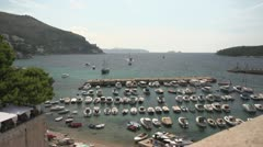 Boats Mediterranean Timelapse Stock Footage