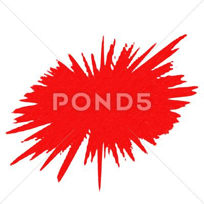 Stock Illustration of Red Splash