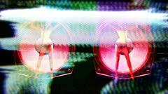 gogo dancer dancing giant speaker - stock footage
