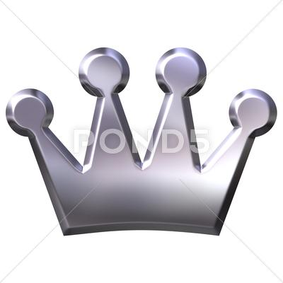 Stock Illustration of Silver Crown