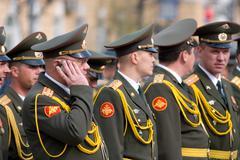 Officers at parade Stock Photos