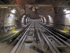 Putki maanalainen metro tunneli Kuvituskuvat