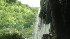 Exotic Waterfall Close-Up Stock Footage